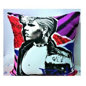 Other - PINK Artist Singer Collectible Throw Pillow NWOT